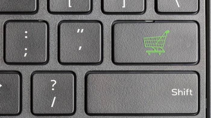 shopping-cart-icon-on-computer-keyboard